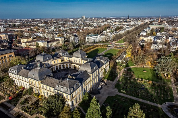 Luftaufnahme des Poppelsdorfer Schlosses