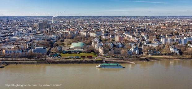 Luftbild der Beethovenhalle