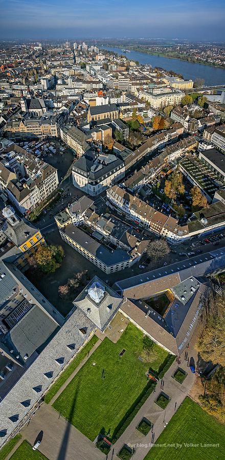 Blick ueber die Universitaet und Bonn