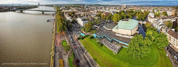 Luftaufnahme der Beethovenhalle