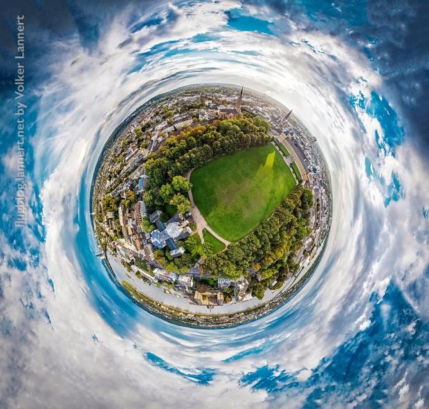 Luftaufnahme im Bonner Hofgarten