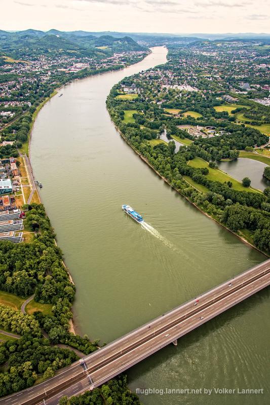 Luftaufnahmen über Bonn