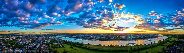 Sonnenuntergang am Graurheindorfer Rheinufer