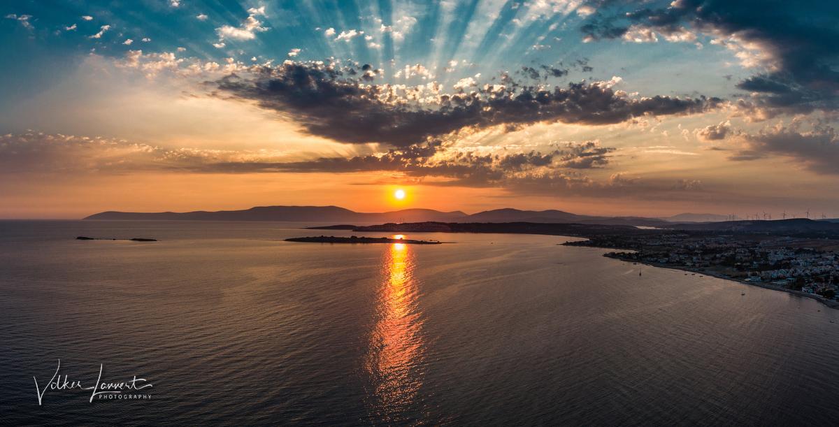 Sonnenuntergang an der türkischen Ägäis
