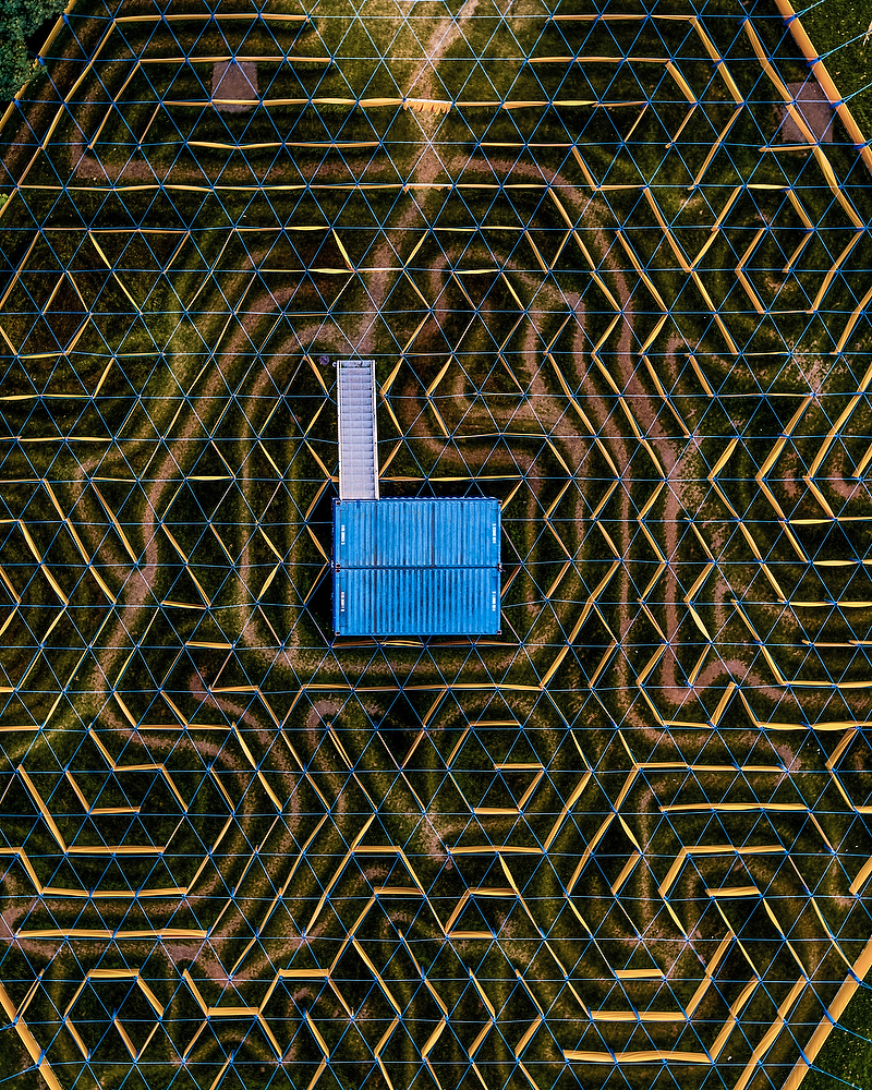 Labyrinth in der Bonner Rheinaue